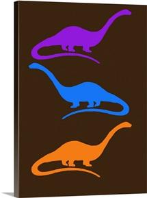 Minimalist Dinosaur Family Poster XXVI