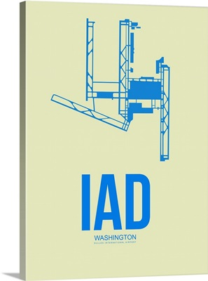 Minimalist IAD Washington Poster I