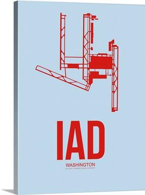 Minimalist IAD Washington Poster II
