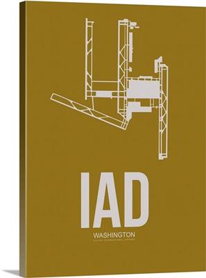 Minimalist IAD Washington Poster III