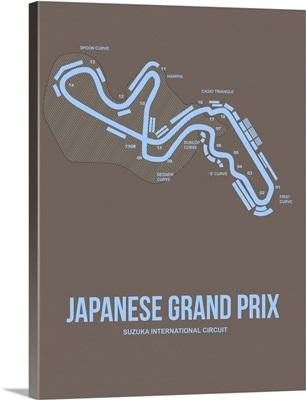 Minimalist Japanese Grand Prix Poster I
