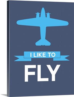 Minimalist Plane Poster I
