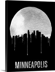 Minneapolis Skyline Black