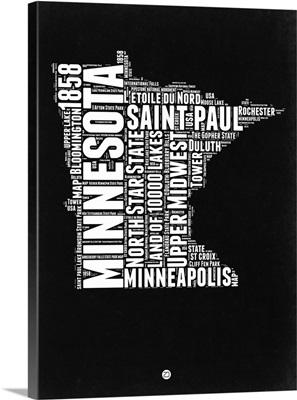 Minnesota Black and White Map