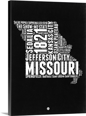 Missouri Black and White Map