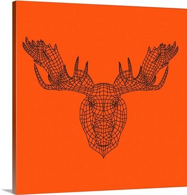 Moose Head Orange Mesh