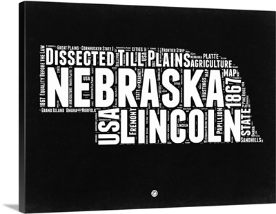 Nebraska Black and White Map