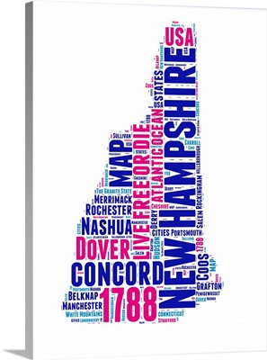 New Hampshire Word Cloud Map