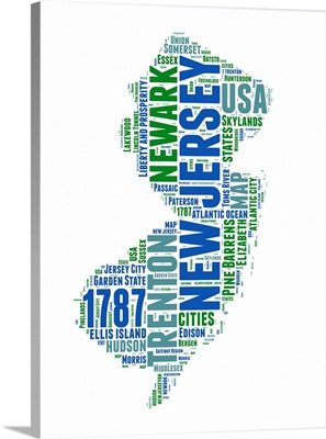 New Jersey Word Cloud Map