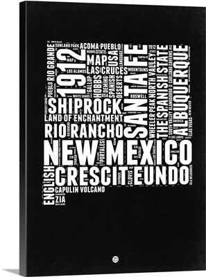 New Mexico Black and White Map