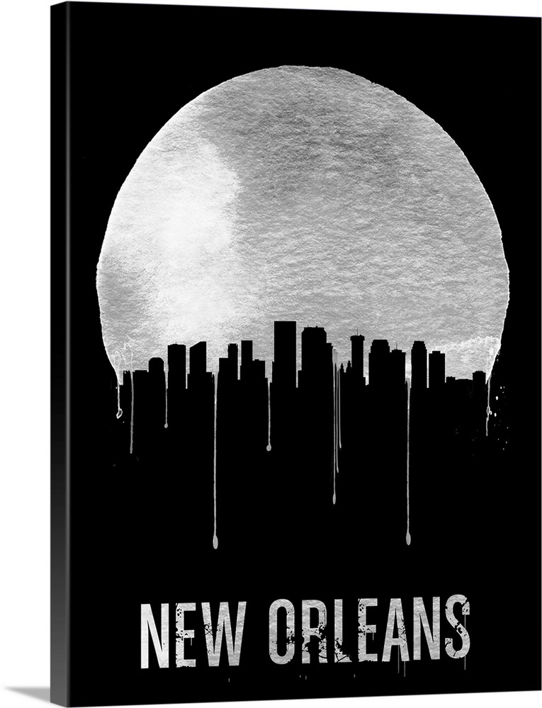 New Orleans Skyline Black