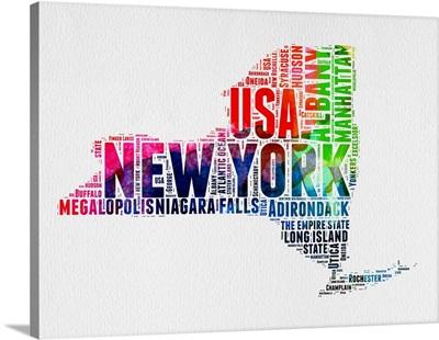 New York Watercolor Word Cloud