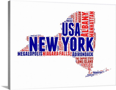 New York Word Cloud Map