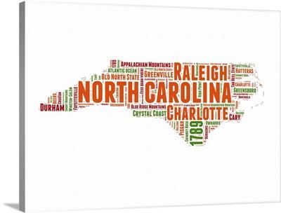 North Carolina Word Cloud Map