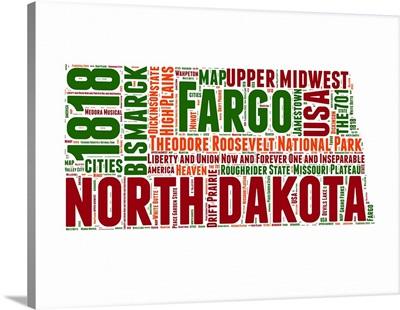North Dakota Word Cloud Map