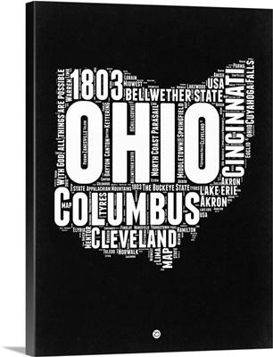 Ohio Black and White Map