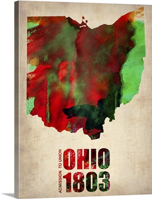 Ohio Watercolor Map