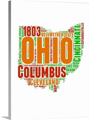 Ohio Word Cloud Map