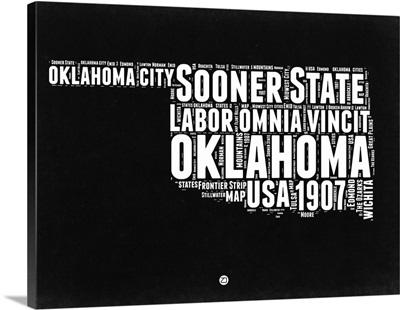Oklahoma Black and White Map