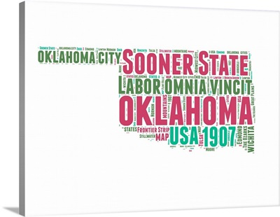Oklahoma Word Cloud Map