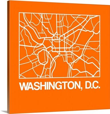Orange Map of Washington, D.C