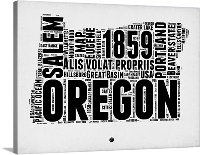 Oregon Word Cloud I