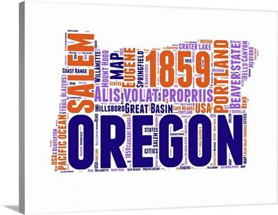 Oregon Word Cloud Map