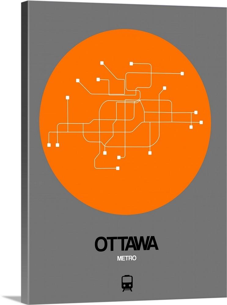Ottawa Subway Map.Ottawa Orange Subway Map