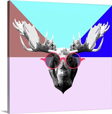 Party Moose in Glasses