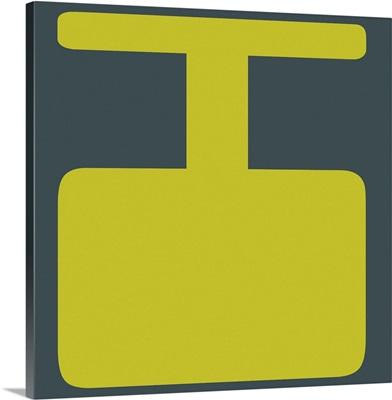 Retro 1960's Alphabet Letter - I - Yellow