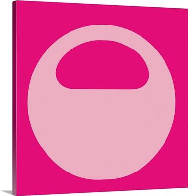 Retro 1960's Alphabet Letter - O - Pink