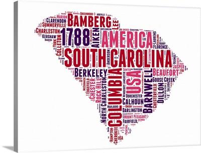 South Carolina Word Cloud Map