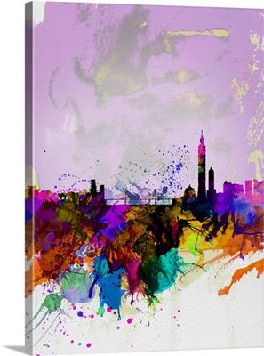 Taipei Watercolor Skyline