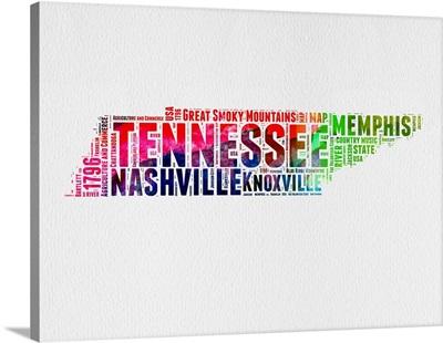 Tennessee Watercolor Word Cloud