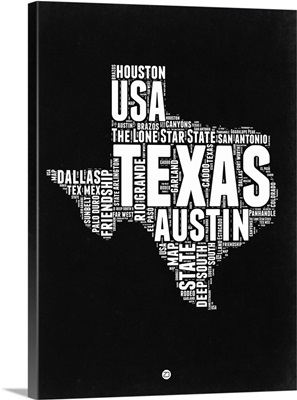 Texas Black and White Map