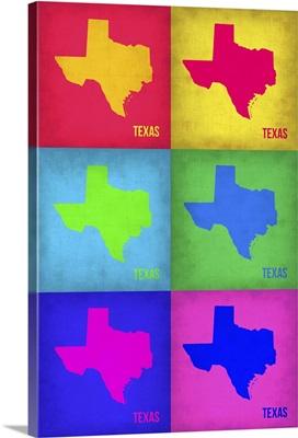 Texas Pop Art Map I