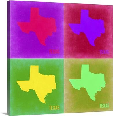Texas Pop Art Map II