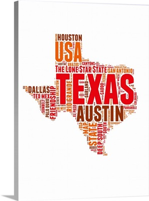 Texas Word Cloud Map
