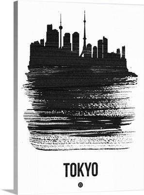 Tokyo Skyline Brush Stroke Black