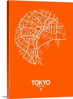 Tokyo Street Map Orange