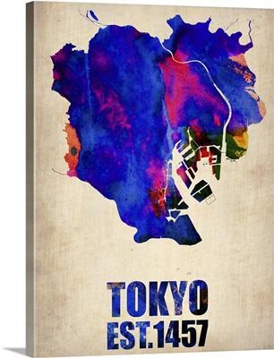 Tokyo Watercolor Map I