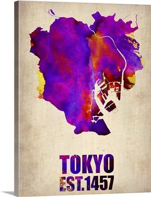 Tokyo Watercolor Map II