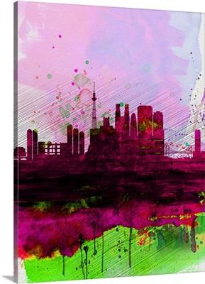 Tokyo Watercolor Skyline
