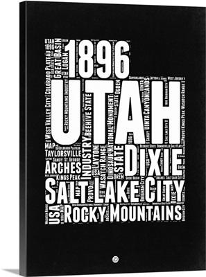 Utah Black and White Map