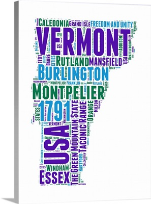 Vermont Word Cloud Map