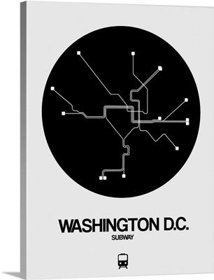 Washington D.C. Black Subway Map
