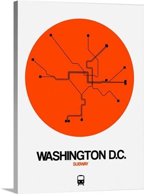 Washington D.C. Orange Subway Map
