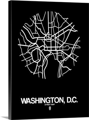 Washington D.C. Street Map Black