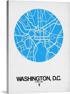 Washington D.C. Street Map Blue