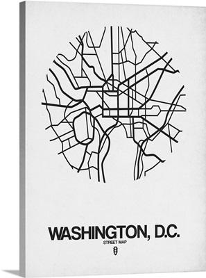 Washington D.C. Street Map White